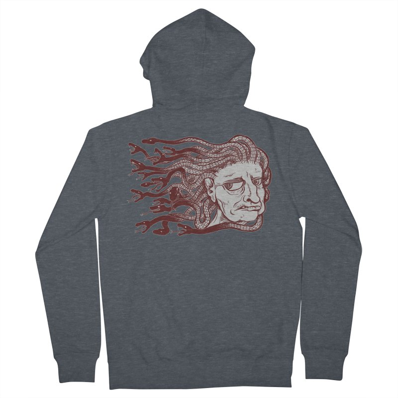 Gorgon Men's Zip-Up Hoody by SkullyFlower's Sweetly Creepy Tees