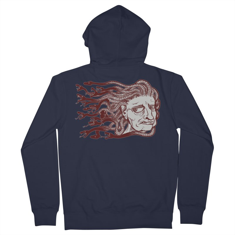 Gorgon Men's French Terry Zip-Up Hoody by SkullyFlower's Sweetly Creepy Tees