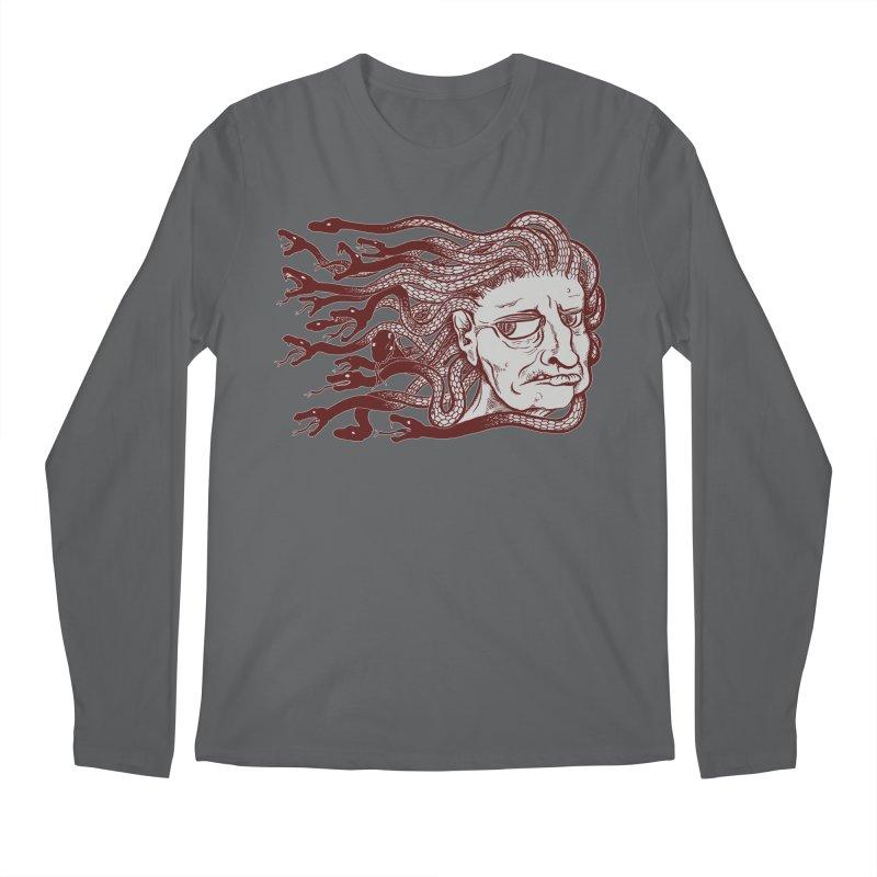 Gorgon Men's Regular Longsleeve T-Shirt by SkullyFlower's Sweetly Creepy Tees