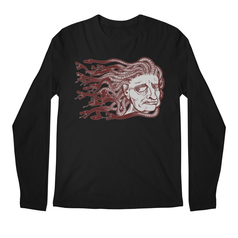 Gorgon Men's Regular Longsleeve T-Shirt by SkullyFlower's Sweetly Creepy Tees