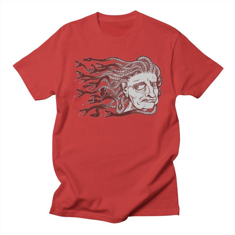 Gorgon Men's Regular T-Shirt by SkullyFlower's Sweetly Creepy Tees