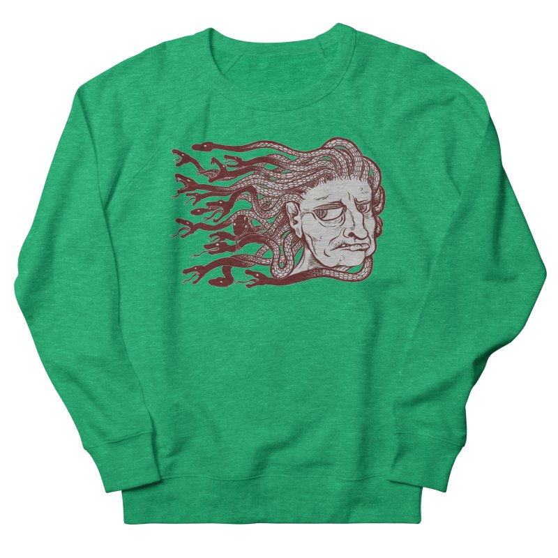 Gorgon Women's French Terry Sweatshirt by SkullyFlower's Sweetly Creepy Tees