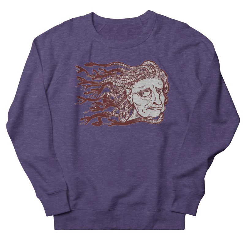 Gorgon Men's French Terry Sweatshirt by SkullyFlower's Sweetly Creepy Tees