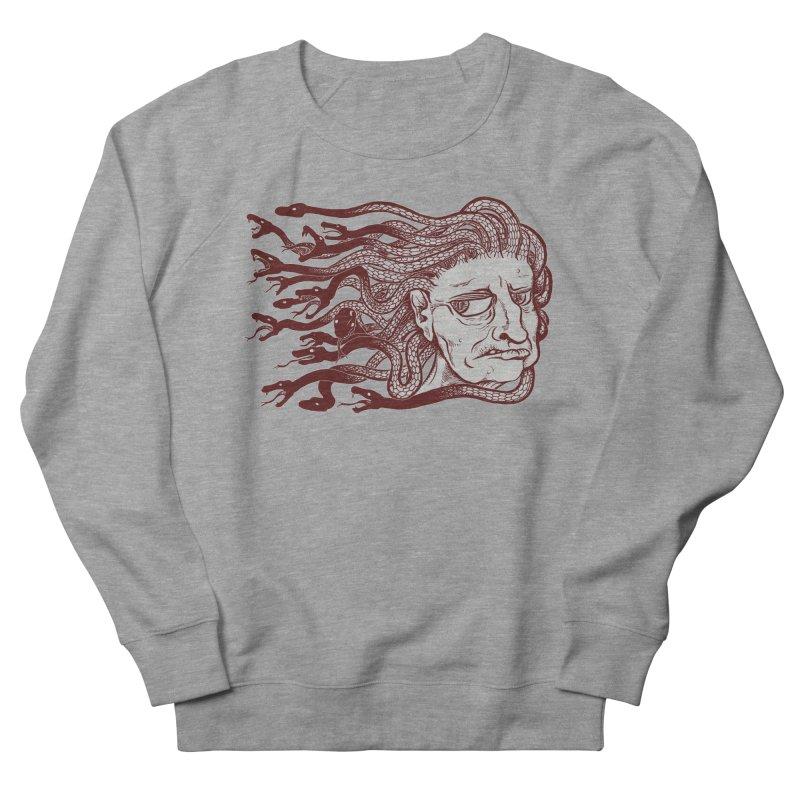 Gorgon Men's French Terry Sweatshirt by SkullyFlower's Sweetly Creepy Tees