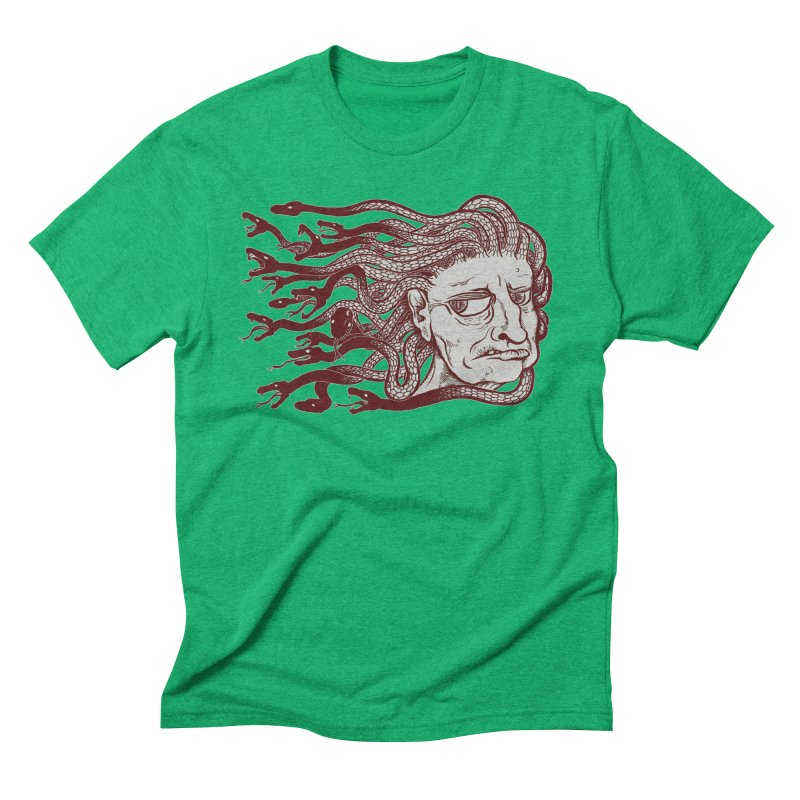 Gorgon Men's Triblend T-Shirt by SkullyFlower's Sweetly Creepy Tees