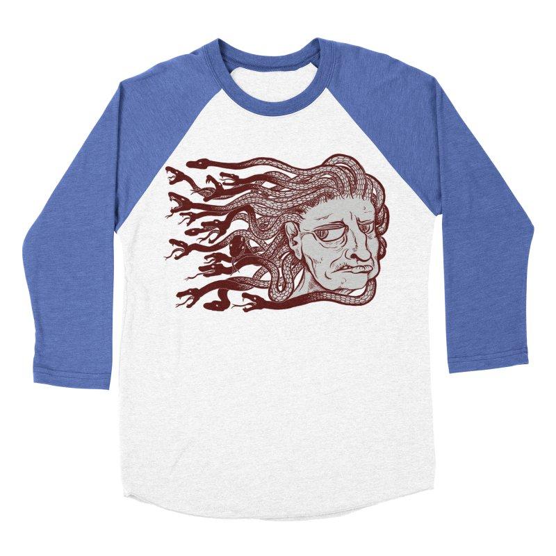 Gorgon Women's Baseball Triblend Longsleeve T-Shirt by SkullyFlower's Sweetly Creepy Tees