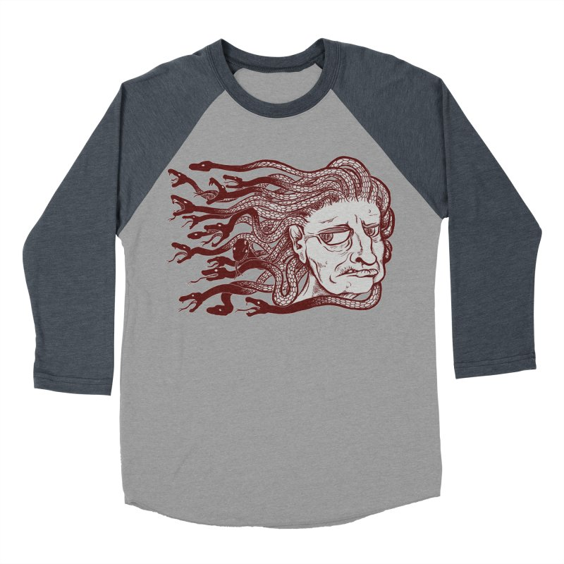 Gorgon Women's Baseball Triblend T-Shirt by SkullyFlower's Sweetly Creepy Tees