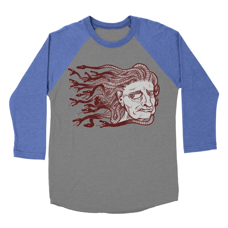 Gorgon Men's Baseball Triblend T-Shirt by SkullyFlower's Sweetly Creepy Tees