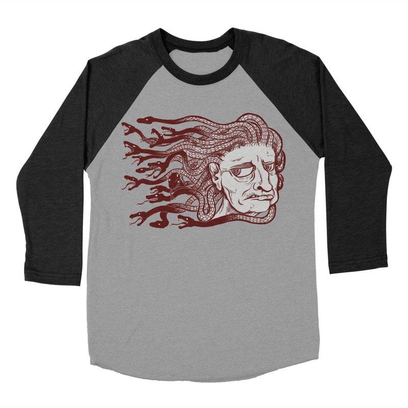 Gorgon Men's Baseball Triblend Longsleeve T-Shirt by SkullyFlower's Sweetly Creepy Tees