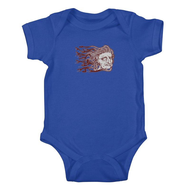 Gorgon Kids Baby Bodysuit by SkullyFlower's Sweetly Creepy Tees