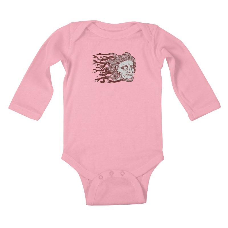 Gorgon Kids Baby Longsleeve Bodysuit by SkullyFlower's Sweetly Creepy Tees