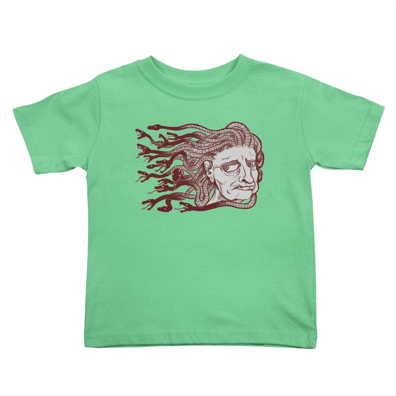 Gorgon Kids Toddler T-Shirt by SkullyFlower's Sweetly Creepy Tees