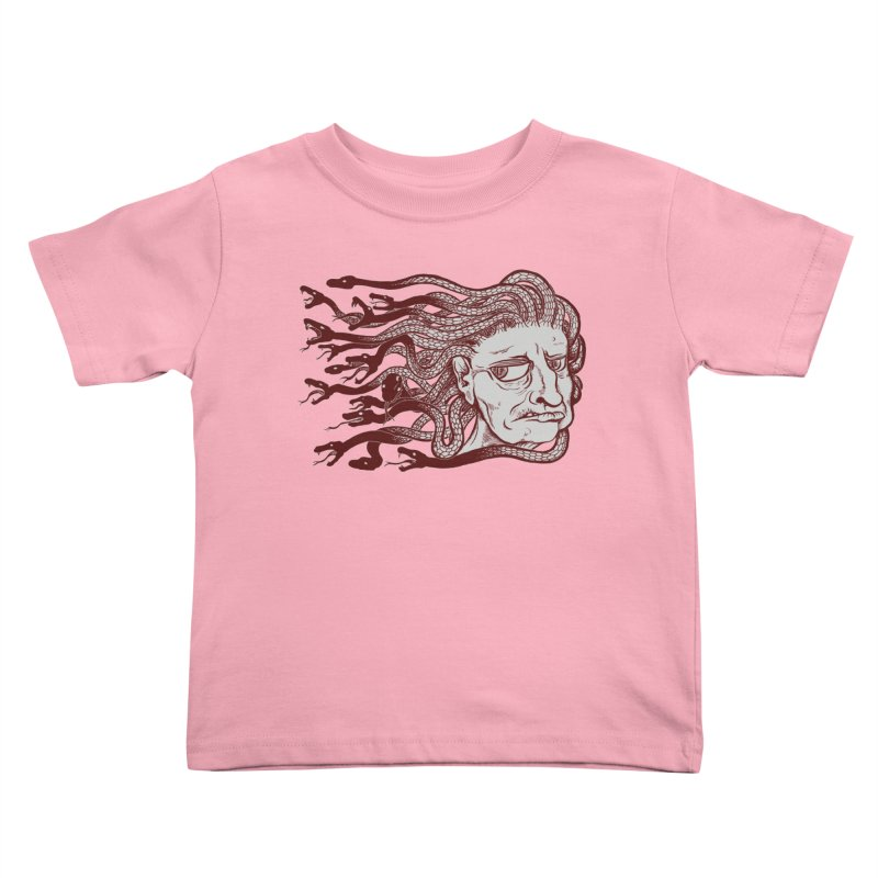 Gorgon Kids Toddler T-Shirt by SkullyFlower's Sweetly Creepy Tees
