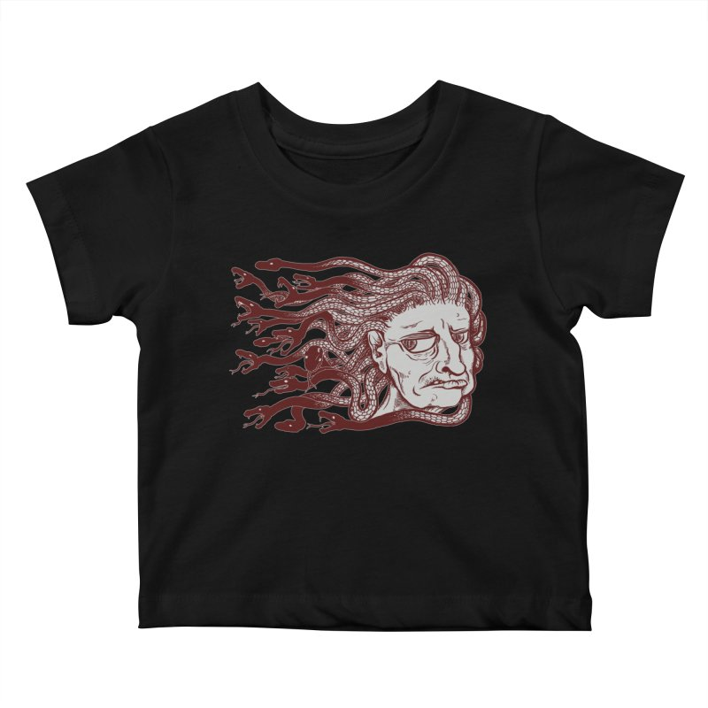 Gorgon Kids Baby T-Shirt by SkullyFlower's Sweetly Creepy Tees