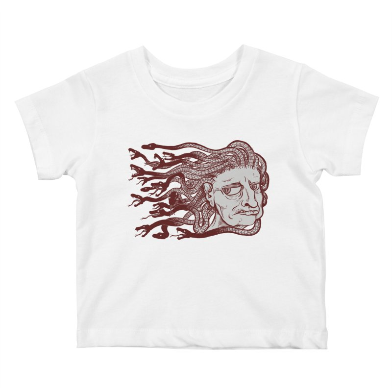 Gorgon Kids Baby T-Shirt by SkullyFlower's Sweetly Creepy Tees