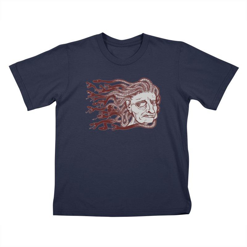 Gorgon Kids T-Shirt by SkullyFlower's Sweetly Creepy Tees