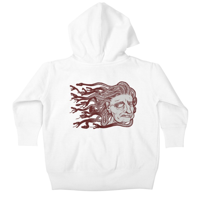 Gorgon Kids Baby Zip-Up Hoody by SkullyFlower's Sweetly Creepy Tees