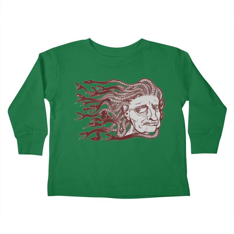 Gorgon Kids Toddler Longsleeve T-Shirt by SkullyFlower's Sweetly Creepy Tees