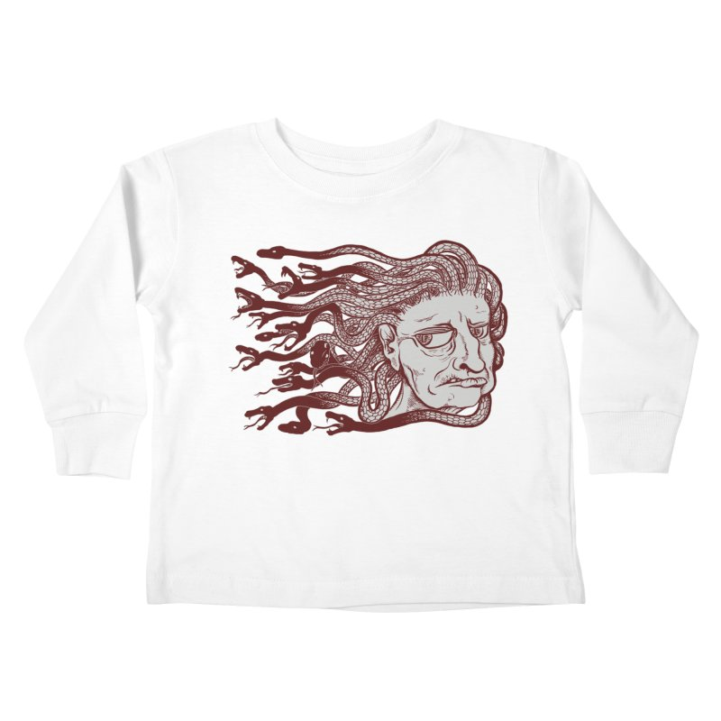 Gorgon Kids Toddler Longsleeve T-Shirt by SkullyFlower's Sweetly Creepy Tees