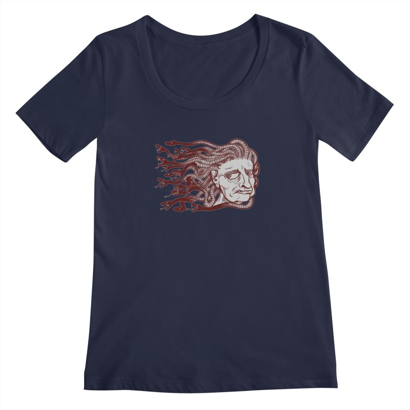 Gorgon Women's Scoopneck by SkullyFlower's Sweetly Creepy Tees
