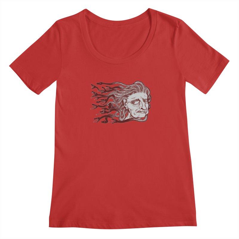 Gorgon Women's Regular Scoop Neck by SkullyFlower's Sweetly Creepy Tees