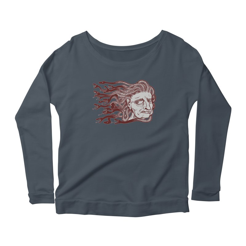 Gorgon Women's Scoop Neck Longsleeve T-Shirt by SkullyFlower's Sweetly Creepy Tees