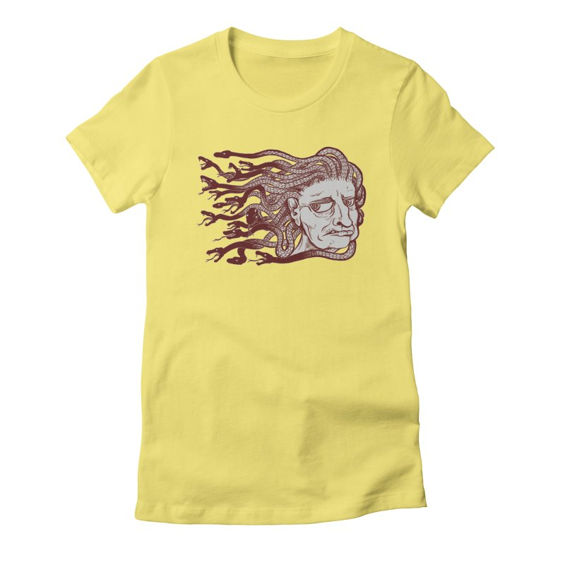 Gorgon Women's Fitted T-Shirt by SkullyFlower's Sweetly Creepy Tees
