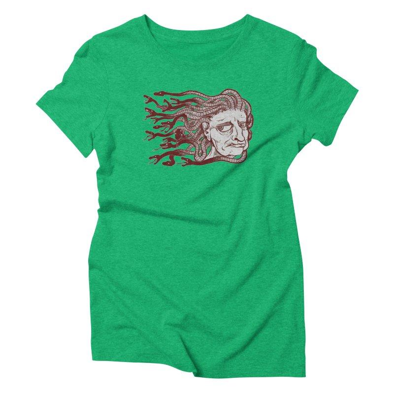 Gorgon Women's Triblend T-shirt by SkullyFlower's Sweetly Creepy Tees