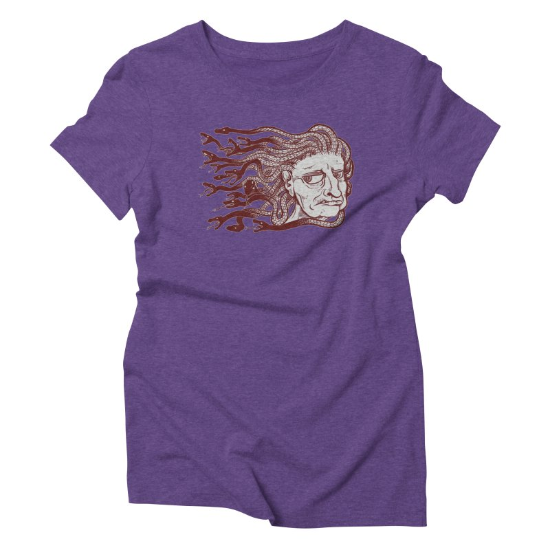 Gorgon Women's Triblend T-Shirt by SkullyFlower's Sweetly Creepy Tees