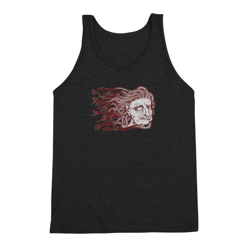 Gorgon Men's Triblend Tank by SkullyFlower's Sweetly Creepy Tees