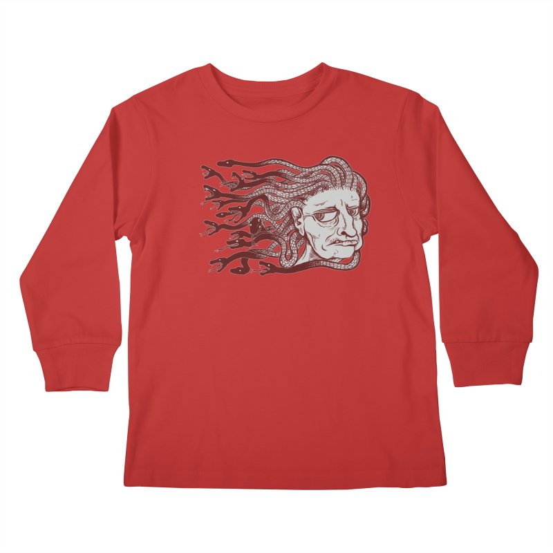 Gorgon Kids Longsleeve T-Shirt by SkullyFlower's Sweetly Creepy Tees