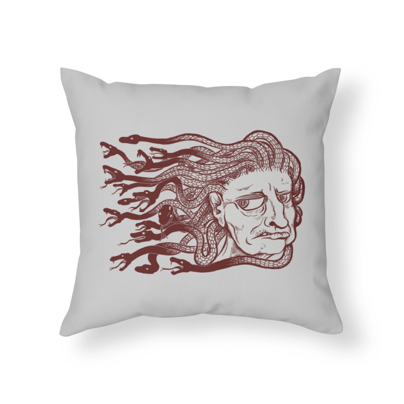 Gorgon Home Throw Pillow by SkullyFlower's Sweetly Creepy Tees