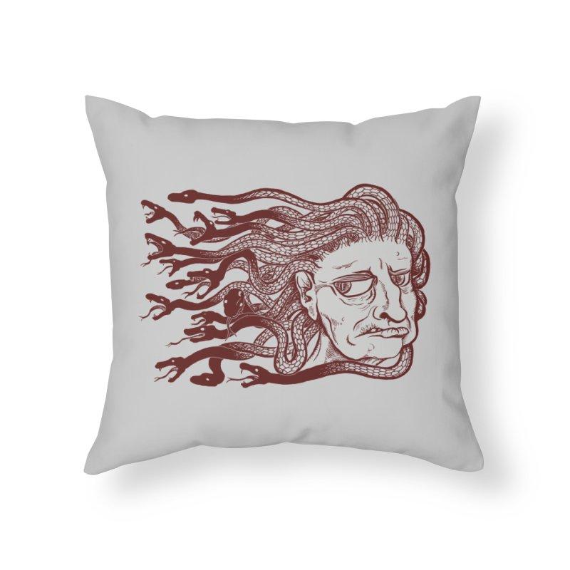Gorgon Home Throw Pillow by SkullyFlower's Sweetly Creepy Tees