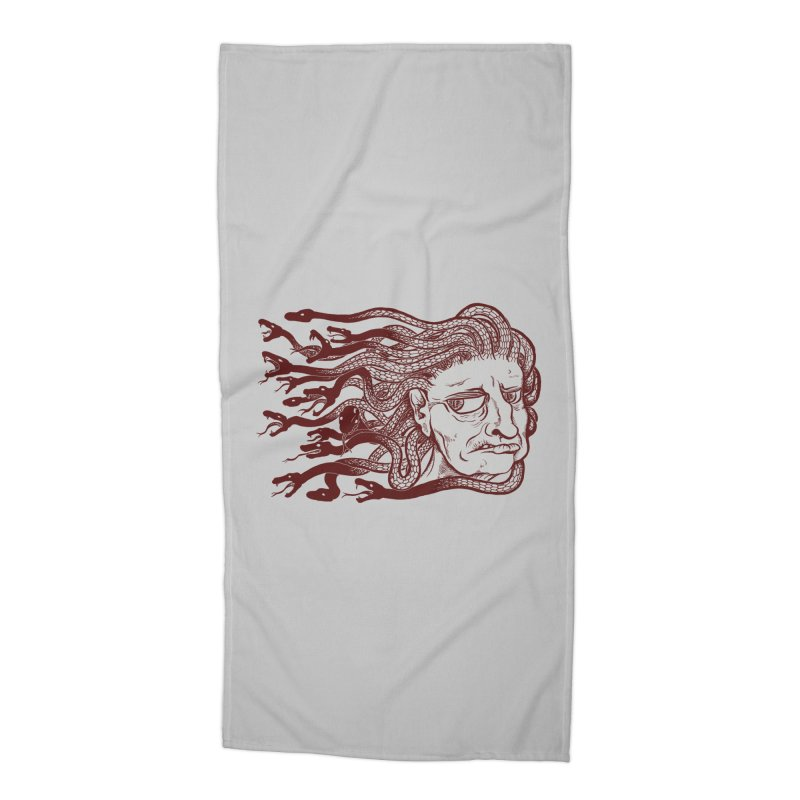 Gorgon Accessories Beach Towel by SkullyFlower's Sweetly Creepy Tees