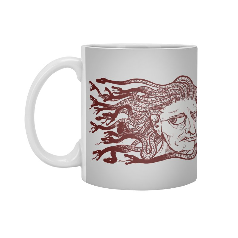 Gorgon Accessories Mug by SkullyFlower's Sweetly Creepy Tees