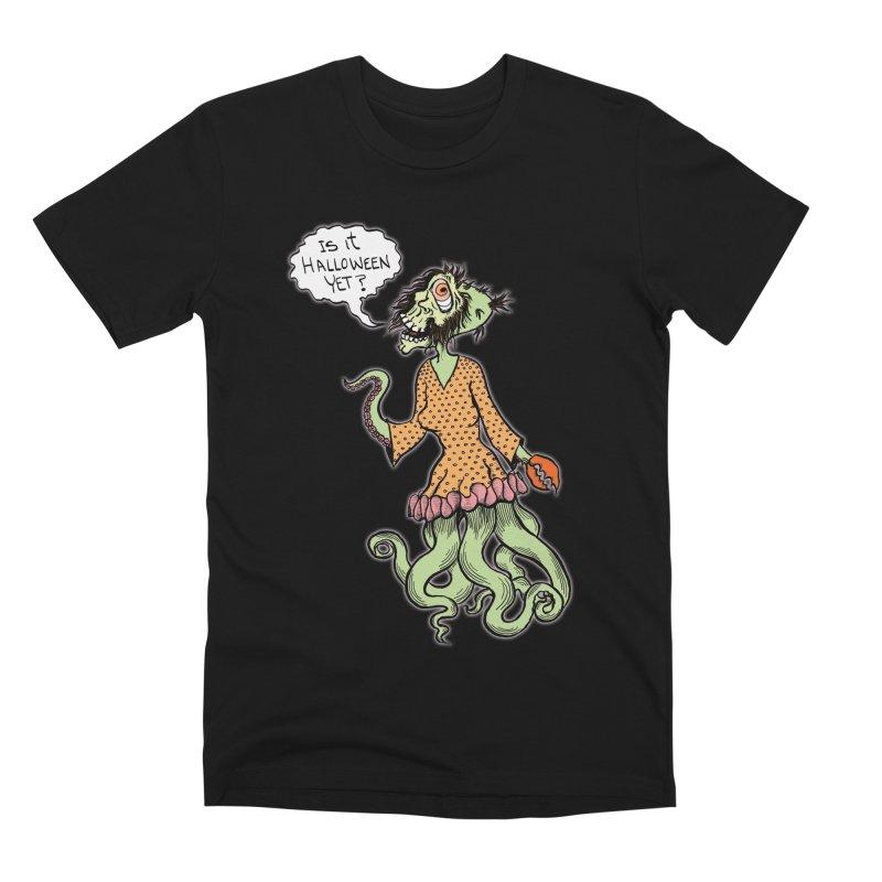 Is It Halloween Yet? Men's Premium T-Shirt by SkullyFlower's Sweetly Creepy Tees