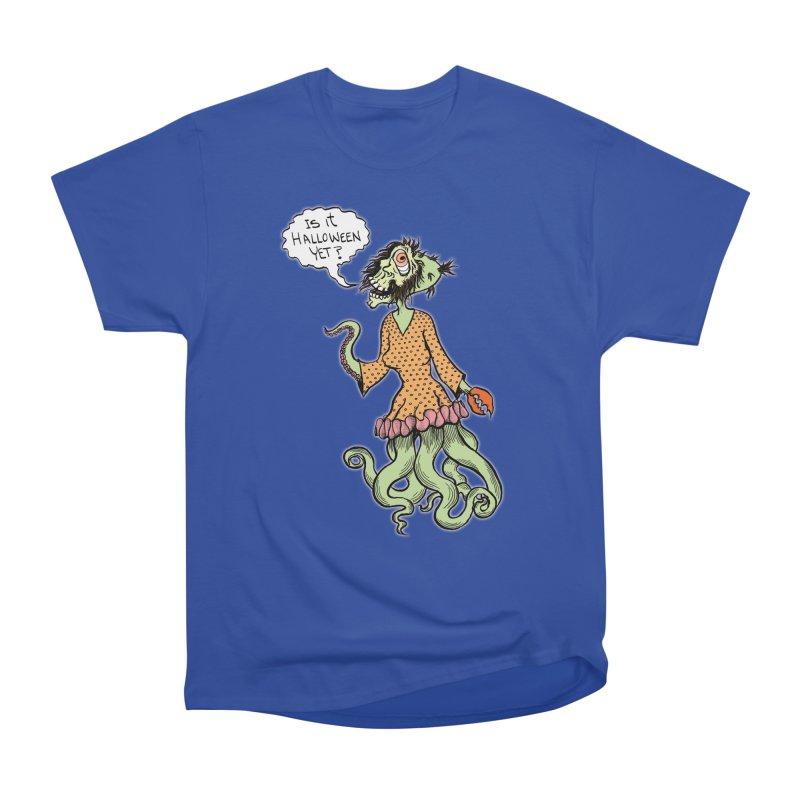 Is It Halloween Yet? Women's Heavyweight Unisex T-Shirt by SkullyFlower's Sweetly Creepy Tees