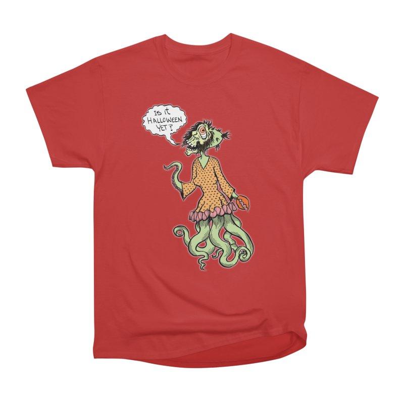 Is It Halloween Yet? Men's Heavyweight T-Shirt by SkullyFlower's Sweetly Creepy Tees