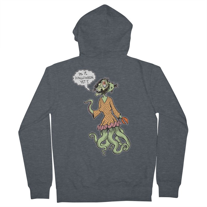 Is It Halloween Yet? Men's Zip-Up Hoody by SkullyFlower's Sweetly Creepy Tees