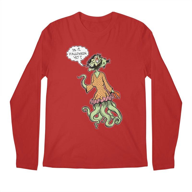 Is It Halloween Yet? Men's Longsleeve T-Shirt by SkullyFlower's Sweetly Creepy Tees