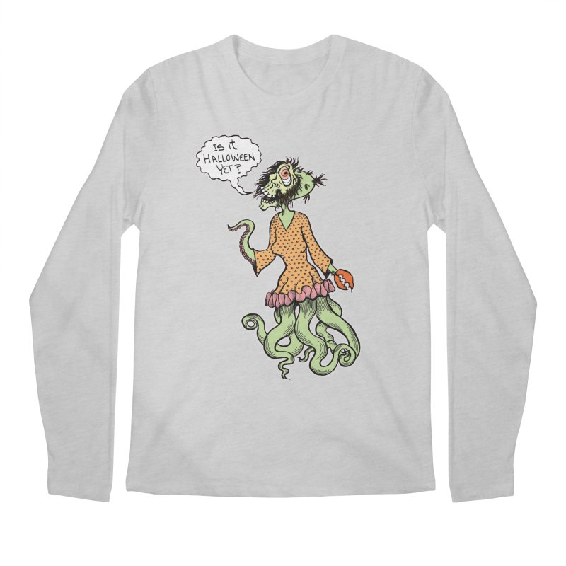 Is It Halloween Yet? Men's Regular Longsleeve T-Shirt by SkullyFlower's Sweetly Creepy Tees