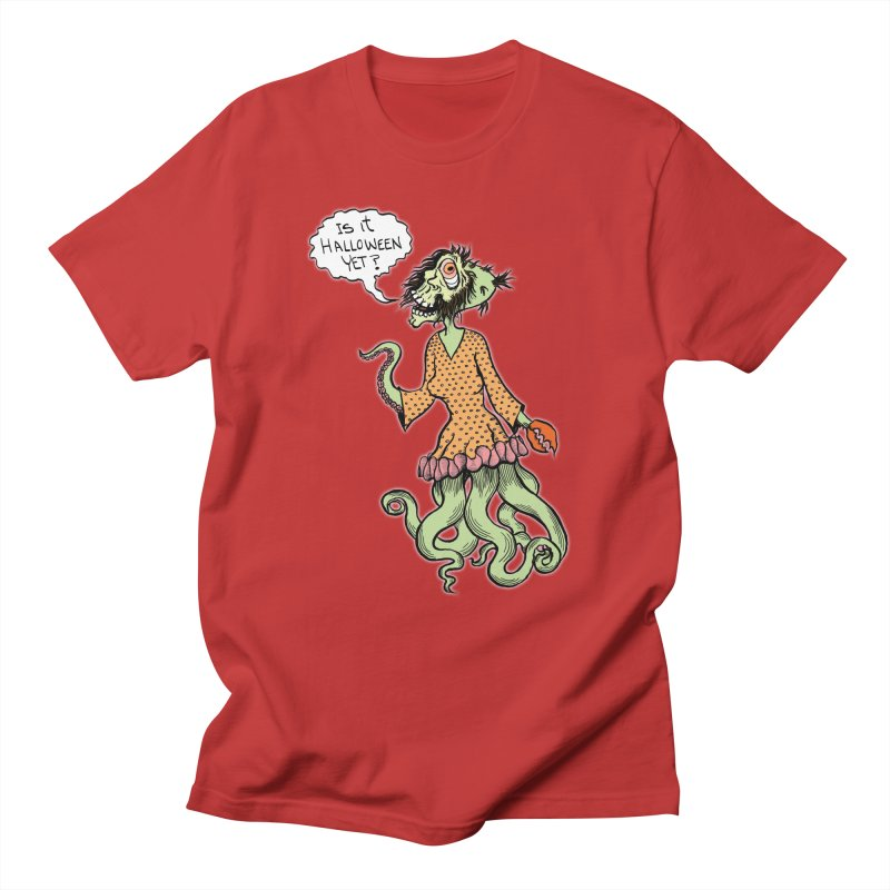 Is It Halloween Yet? Men's T-shirt by SkullyFlower's Sweetly Creepy Tees
