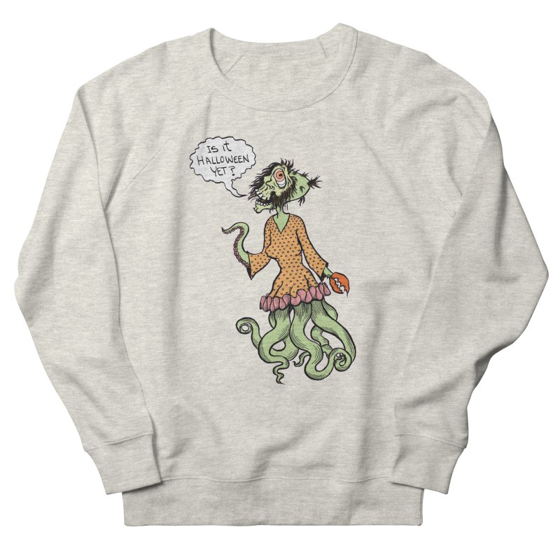Is It Halloween Yet? Men's French Terry Sweatshirt by SkullyFlower's Sweetly Creepy Tees