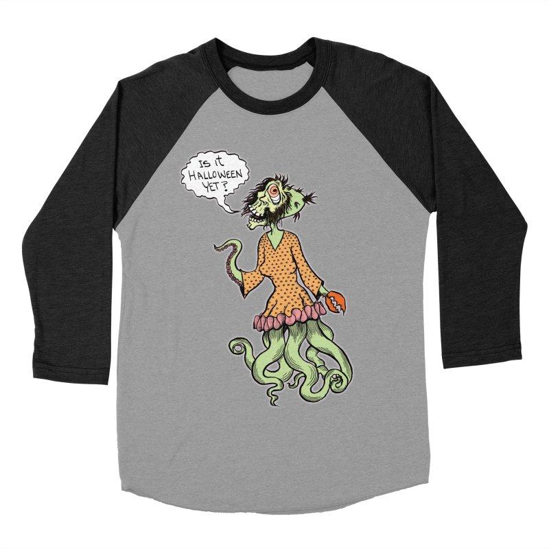 Is It Halloween Yet? Women's Baseball Triblend Longsleeve T-Shirt by SkullyFlower's Sweetly Creepy Tees