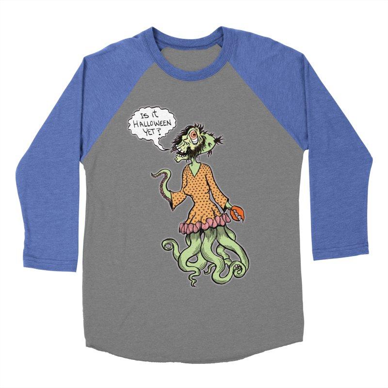 Is It Halloween Yet? Men's Baseball Triblend Longsleeve T-Shirt by SkullyFlower's Sweetly Creepy Tees
