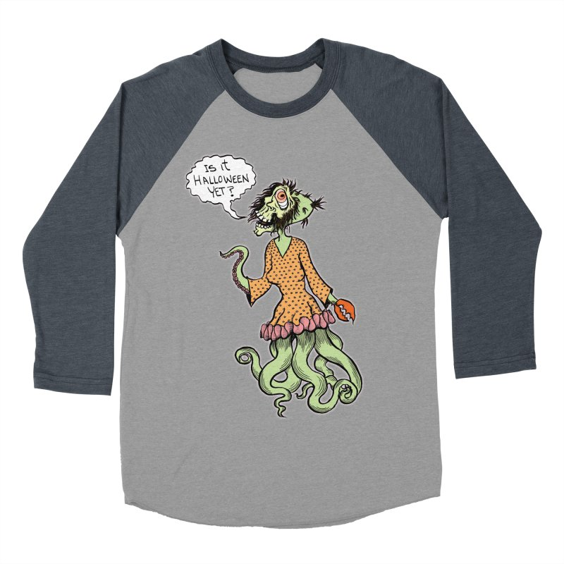Is It Halloween Yet? Men's Baseball Triblend T-Shirt by SkullyFlower's Sweetly Creepy Tees