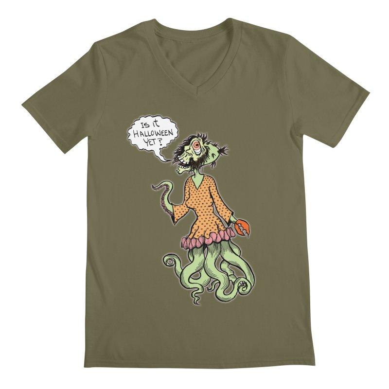 Is It Halloween Yet? Men's V-Neck by SkullyFlower's Sweetly Creepy Tees