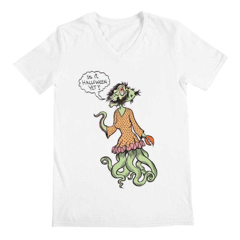 Is It Halloween Yet? Men's Regular V-Neck by SkullyFlower's Sweetly Creepy Tees