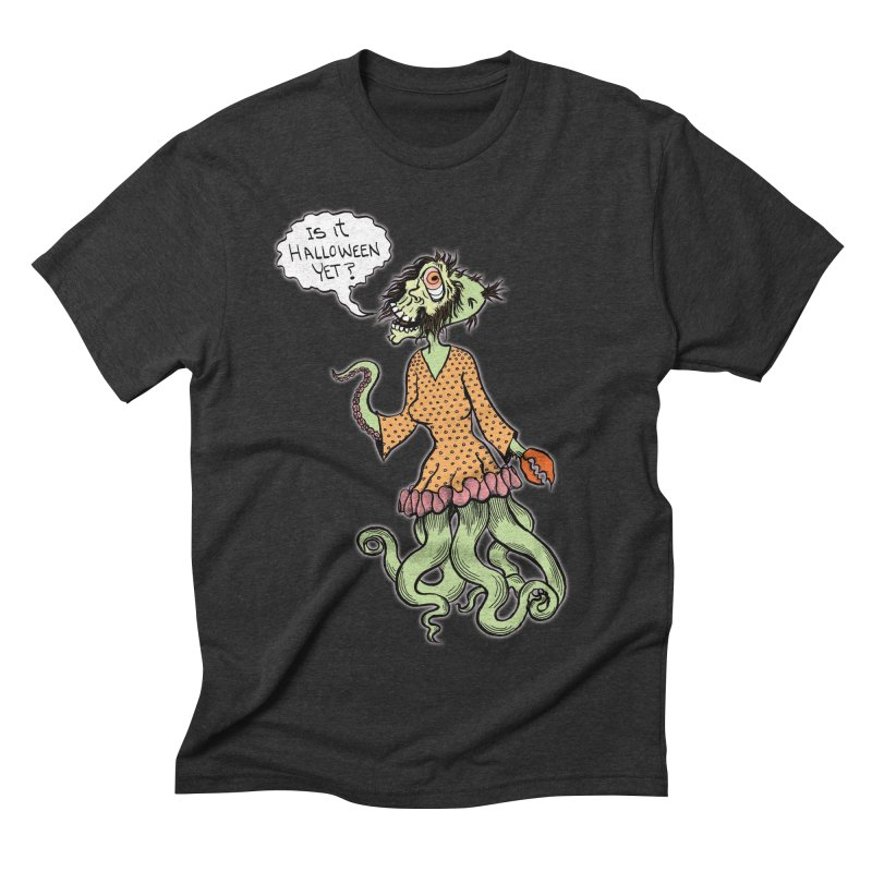 Is It Halloween Yet? Men's Triblend T-shirt by SkullyFlower's Sweetly Creepy Tees