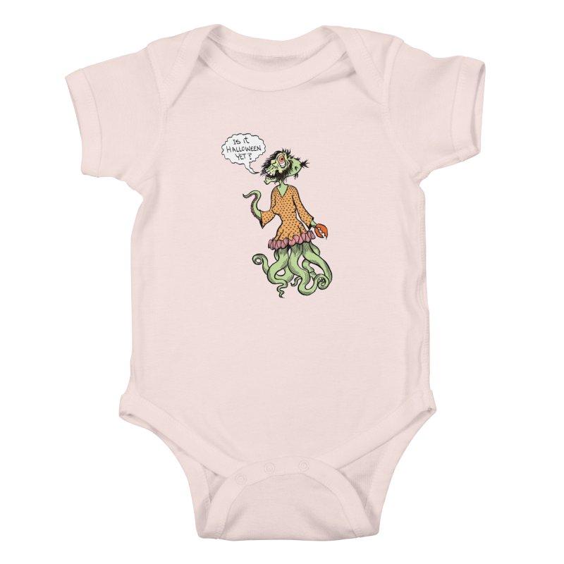 Is It Halloween Yet? Kids Baby Bodysuit by SkullyFlower's Sweetly Creepy Tees